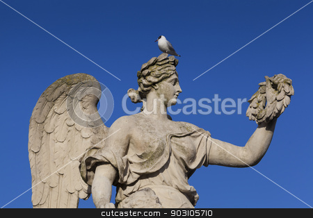 Statue in the castle of Versailles, Yvelines, France stock photo, Statue in the castle of Versailles, Yvelines, France by B.F.