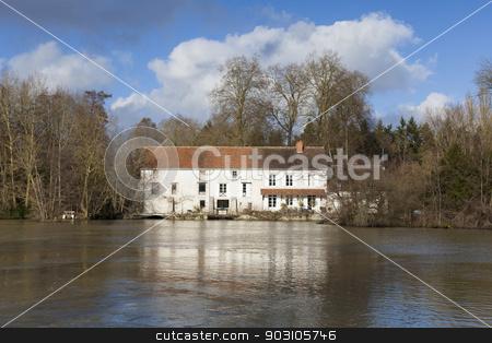 Water mill, Olivet, Loiret, France stock photo, Water mill, Olivet, Loiret, France by B.F.