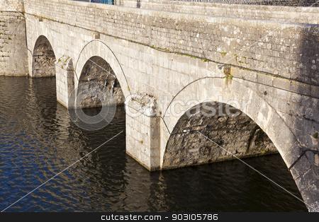 Bridge of the Castle of Sully-Sur-Loire, Loiret, France stock photo, Bridge of the Castle of Sully-Sur-Loire, Loiret, France by B.F.