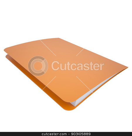 Office folder stock photo, Office folder. Isolated render on a white background by cherezoff