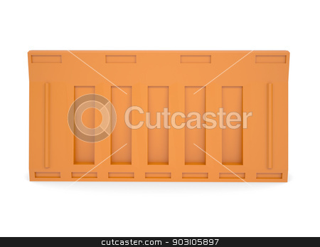 Portable traffic barriers stock photo, Portable traffic barriers. Isolated render on white background by cherezoff