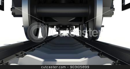 Wheel Of Train stock photo, Wheel Of Train. Render on white background by cherezoff