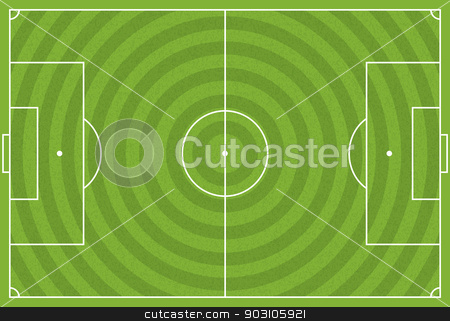 Realistic Vector Football - Soccer Field stock vector clipart, A realistic textured grass football / soccer field. Vector EPS 10 file available. EPS file contains transparencies. by Jason Enterline