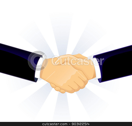 Handshake two men stock vector clipart, Vector illustration (eps 10) of Handshake two men by SonneOn