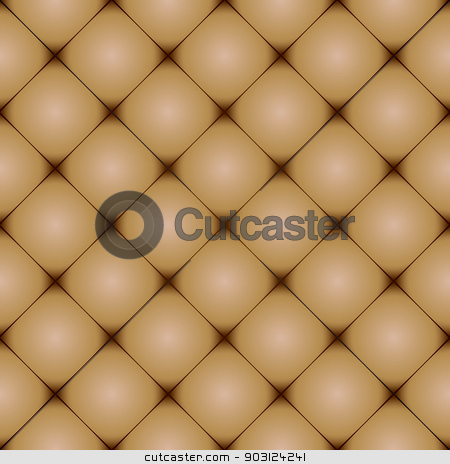 Cushion back faded brown stock photo, brown leather background with seamless repeating design by Michael Travers