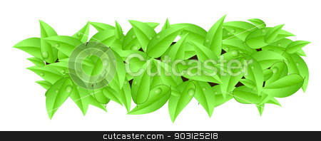 Banner made of leaves with space text isolated stock photo, Banner made of leaves with space text isolated on a white background by sylwia