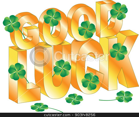 good luck stock vector clipart, good luck by STAR ILLUSTRATION