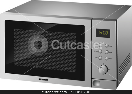 MICROWAVE stock vector clipart, MICROWAVE by STAR ILLUSTRATION