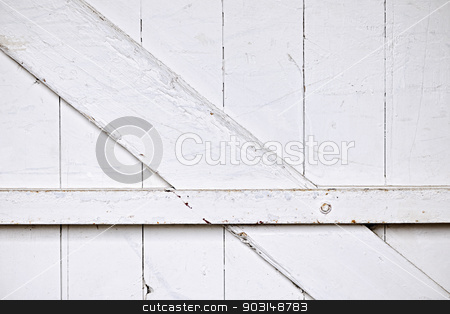 Barn door background stock photo, Background of old wooden barn door painted white by Elena Elisseeva