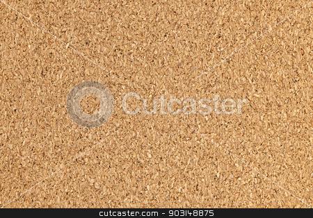 Corkboard background texture stock photo, Brown cork board background surface with texture by Elena Elisseeva