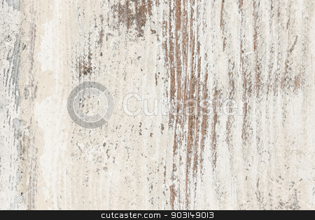 Old painted wood background stock photo, Background of old wood wall with peeling paint by Elena Elisseeva