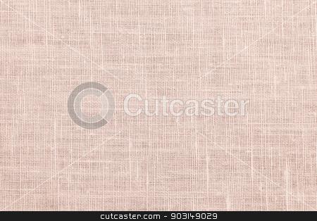 Pink linen fabric background stock photo, Pink linen woven fabric background or texture by Elena Elisseeva
