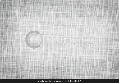 Linen fabric background stock photo, White linen woven fabric background or texture with dark vignette by Elena Elisseeva