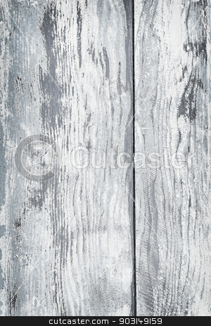 Old painted wood background stock photo, Textured background of distressed rustic wood with peeling blue and white paint by Elena Elisseeva
