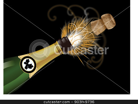popping cork stock vector clipart, popping cork by STAR ILLUSTRATION