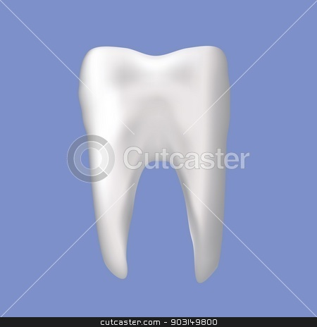 tooth stock vector clipart, colorful illustration with tooth on a blue background for your design by valeo5