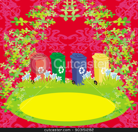 segregation of garbage, abstract card stock vector clipart, segregation of garbage, abstract card by Jacky Brown