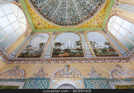 Detail of Harem Ceiling stock photo, Detail of Harem Ceiling from Topkapi Place in Istanbul by Scott Griessel