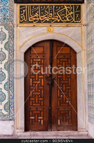 Door in Harem Courtyard stock photo, Door in Harem Courtyard from Topkapi Place in Istanbul by Scott Griessel