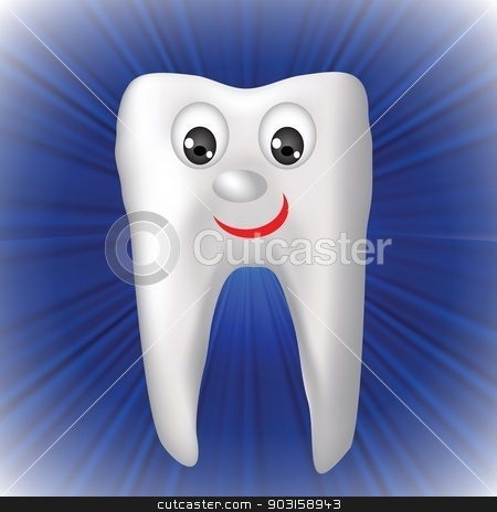 cheerful tooth stock vector clipart, colorful illustration with cheerful tooth for your design by valeo5