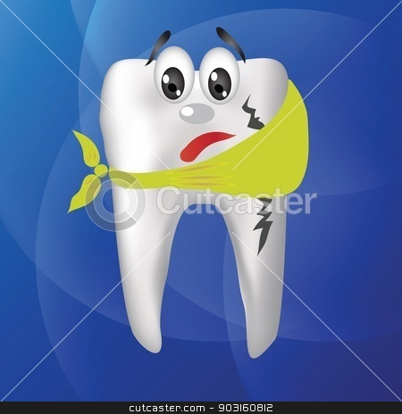 tooth hurts stock vector clipart, colorful illustration with tooth hurts for your design by valeo5