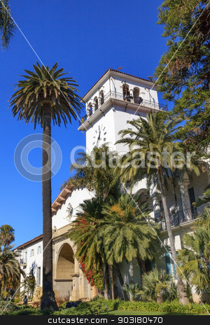 Court House Building Santa Barbara California stock photo, Court House Building Santa Barbara California  by William Perry