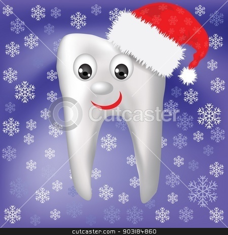winter tooth stock vector clipart, colorful illustration with  winter tooth for your design by valeo5