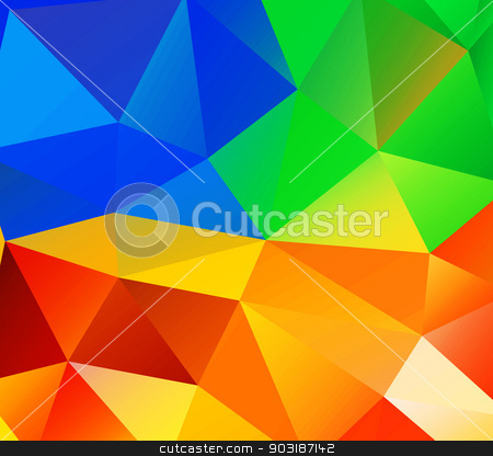 Triangle background. Colorful polygons. stock vector clipart, Triangle background. Colorful polygons. Abstract background in modern style by robuart