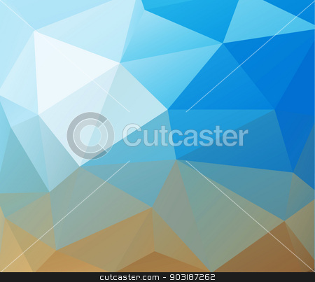 Triangle background. Blue polygons. stock vector clipart, Triangle background. Blue polygons. Abstract background in modern style by robuart