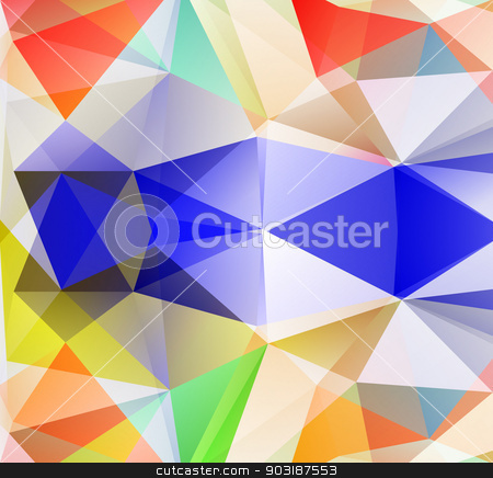 Triangle background. Colorfull polygons. stock vector clipart, Triangle background. Colorfull polygons. Abstract background in modern style by robuart