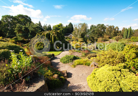 Beautiful summer garden stock photo, Beautiful summer garden, Europe by Juliet Photography