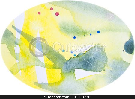 Watercolor egg-shaped background stock photo, Watercolor egg-shaped background, Abstract textured watercolor background. by ArtesiaWells
