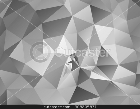 Triangle background. Gray polygons. stock vector clipart, Triangle background. Gray polygons. Abstract background in modern style by robuart