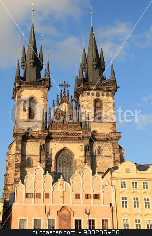 Prague, Czech Republic stock photo, Town Square in Prague, Czech Republic by Sam D'Cruz