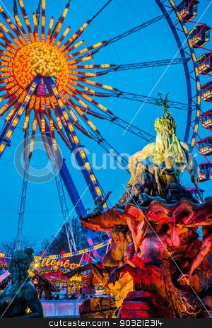 Colorful Ferris Wheel stock photo, Colorful Ferris Wheel in Berlin, Germany by bloodua