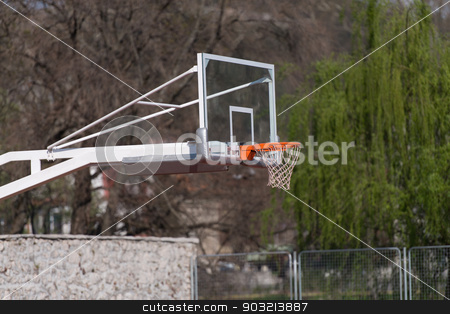 Outdoor Public Basketball Court stock photo, Outdoor Public Basketball Court by Jasminko Ibrakovic