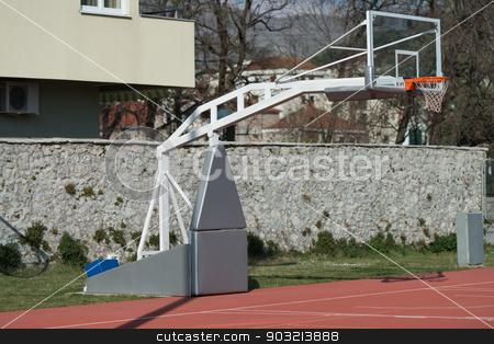 Outdoor Public Basketball Court stock photo, Outdoor Public Basketball Court by Jasminko Ibrakovic