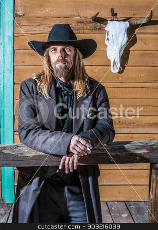 Bandit Portrait stock photo, Portrait of an old west bandit by Scott Griessel