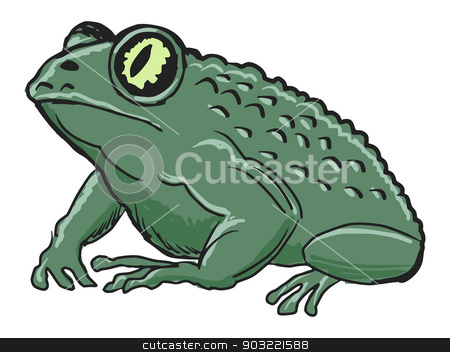 toad stock vector clipart, hand drawn, sketch, cartoon illustration of toad by Oleksandr Kovalenko