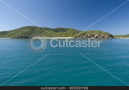 Great Keppel Island, Queensland , Australia stock photo, Great Keppel Island, Queensland , Australia is a beautiful tropical island with numerous beaches and resorts lying off the Capricorn Coast , view from the sea by Stephen Gibson