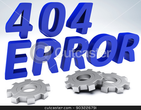 Error 404 concept stock photo, Computer error 404 with tools 3d illustration by nicolas menijes