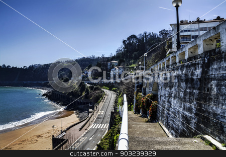 Close to the beach stock photo, Picture close to the beach in Getaria city by TilyoRusev