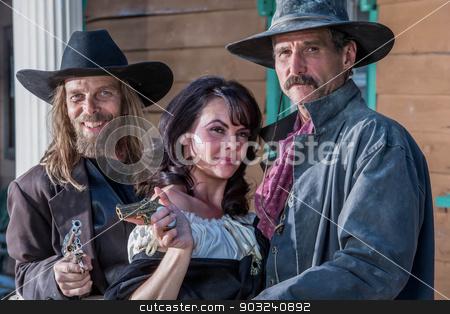 Old West Portrait stock photo, Portrait of old west citizens by Scott Griessel