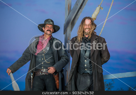 Bandit Execution stock photo, The hanging of a bandit in the old west by Scott Griessel