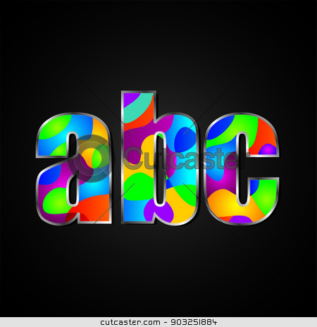Colorful Alphabet stock photo, Colorful font style A to z by Tajdar Muhammad