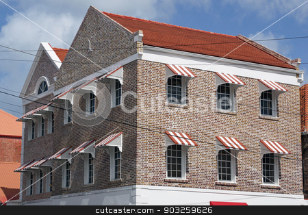 Saint Georges, Grenada, Caribbean stock photo, Historic building, Saint Georges, Grenada, Caribbean by Alexander Ludwig