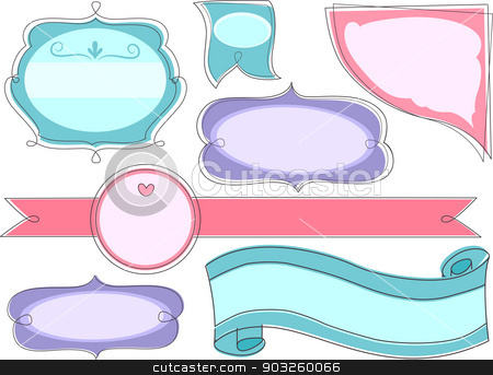 Blank Store Product Labels  stock vector clipart, Illustration of Blank Store Product Labels by BNP