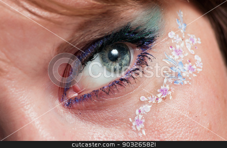 beautiful eye of a young girl stock photo, beautiful eye close-up of a young girl by DenisKa