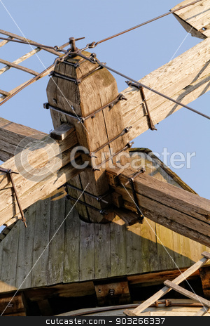 Miller mill stock photo, Photo of an old miller mill on the farm by Nneirda