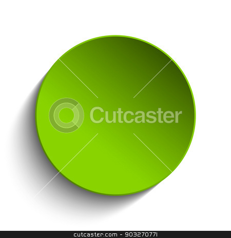 Green Circle Button on White Background stock vector clipart, Vector - Green Circle Button on White Background by Augusto Cabral Graphiste Rennes